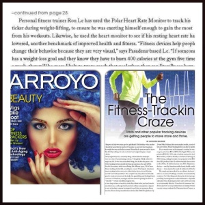 Ron Le Fitness quoted in Arroyo Magazine (January 2015)